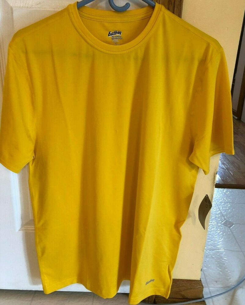 ee60c48c8a1e0 Details about Eastbay Evapor Mens Short Sleeve Fitted Compression Athletic  Shirt Size L Yellow