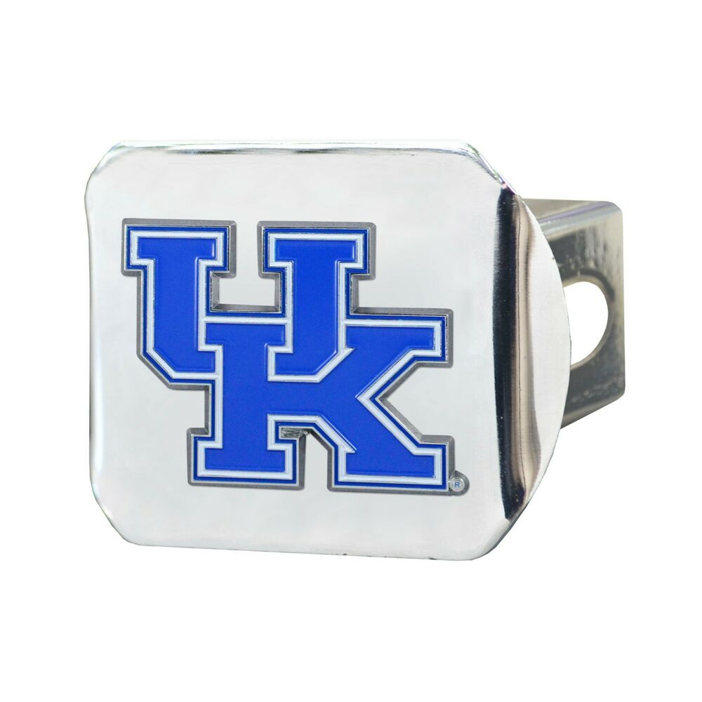 huge discount 58ca6 14063 Details about Fanmats NCAA Kentucky Wildcats Color 3D Chrome Metal Hitch  Cover Del 2-4 Day