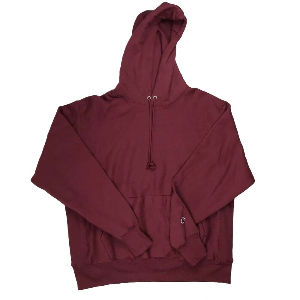 New Champion Urban Outfitters Reverse Weave Pullover Hoodie Burgundy M or L