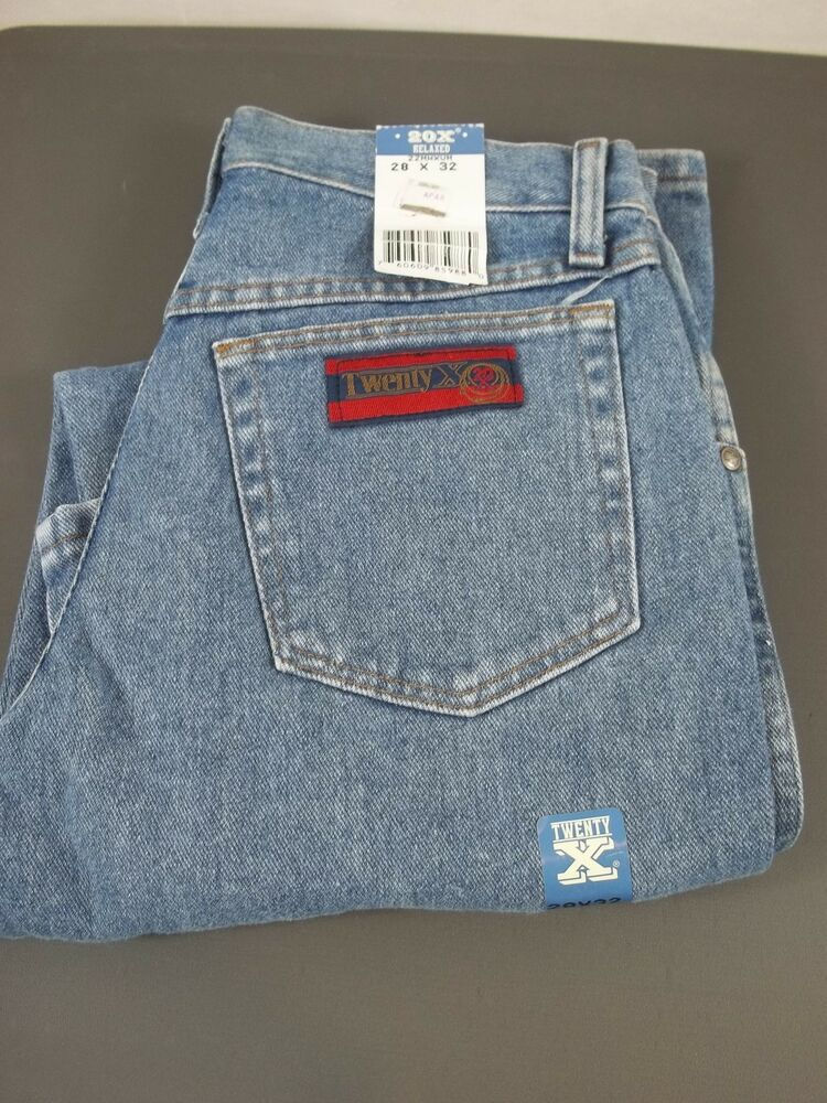 579ad2b4 Details about Mens Wrangler Twenty X Relaxed Fit 22MWXVM Light Wash Jeans  28 x 32 NWT