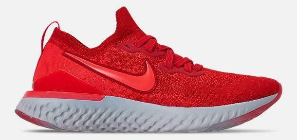 05b88e7b9752 Details about NIKE EPIC REACT FLYKNIT 2 MEN S RUNNING CHILE RED - CRIMSON -  GREY - BLACK NEW