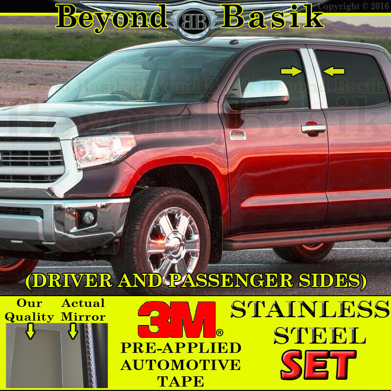 For 2007-2019 TOYOTA TUNDRA 08-19 Sequoia 4PC Stainless