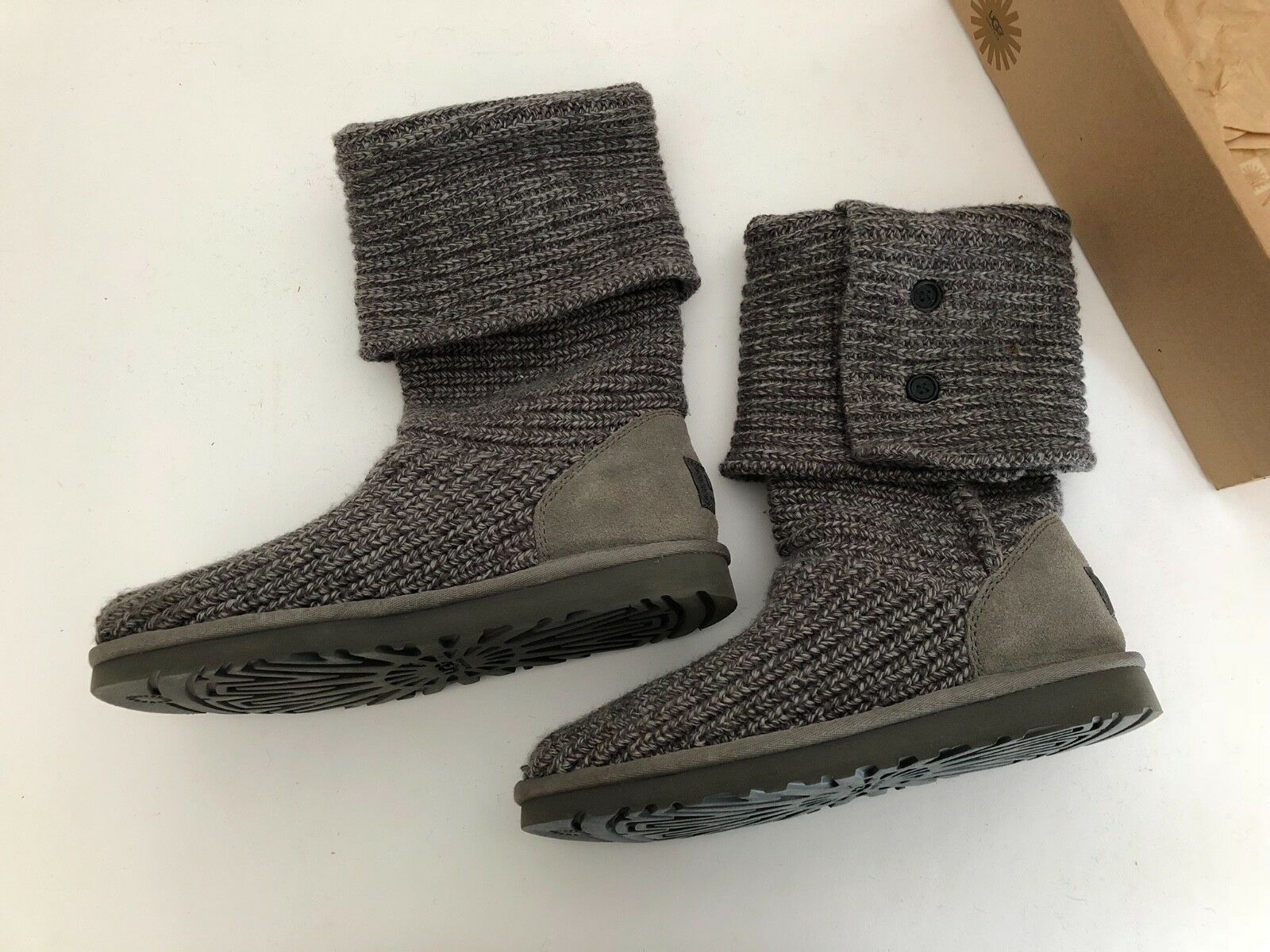 fded56eda ... UPC 889830402266 product image for Ugg Classic Cardy Crochet Tall Boots  Three Botton Grey Size 8 ...