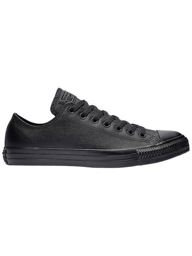 abbdfbc9c7da Details about Converse Chuck Taylor All Star Ox Low Top Mono Black Leather  Unisex Trainers