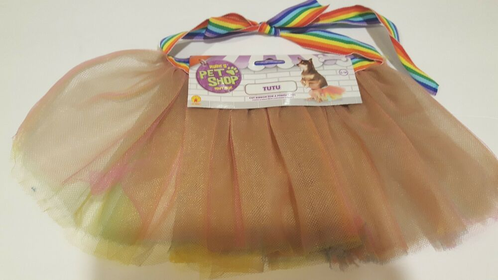 e67d55bc73 Details about Rainbow Dog Tutu Skirt Size M L Tulle Pet Cat Puppy Doll  Costume Circus Pride