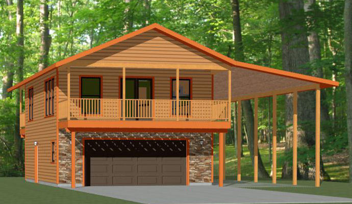 24x32 house w rv port -- 1 br 1 5 ba -- 830 sqft -- pdf floor plan