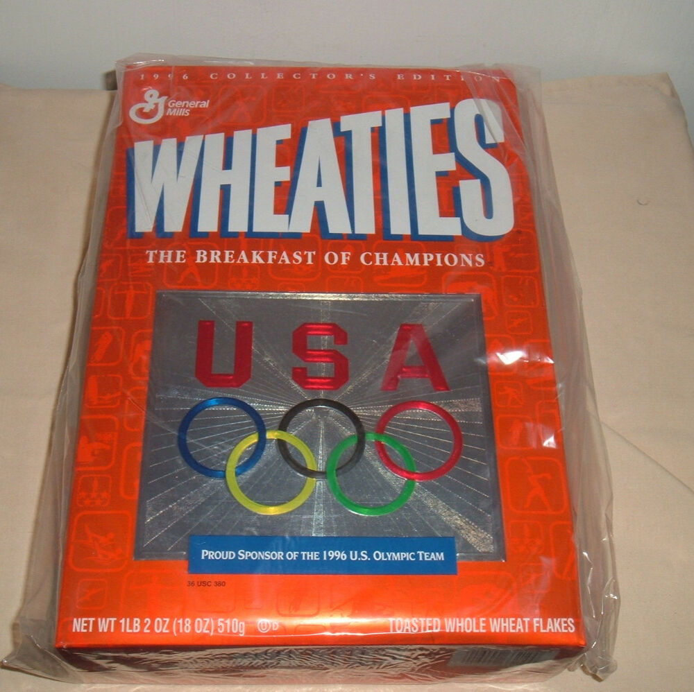 1996 General Mills Wheaties Cereal Box U S Olympic Team