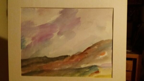 Atmospheric Original Watercolour Landscape Painting-Pennine Way