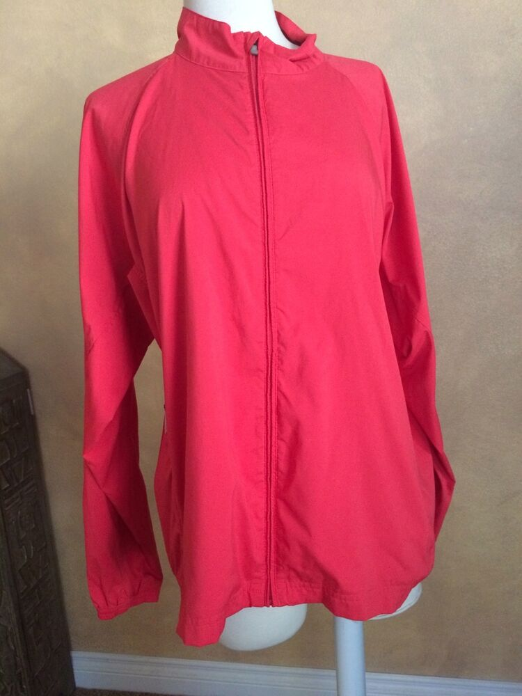 14ef214687d6 Details about Athletic Jacket Adidas Clima Proof golf cycle running Yoga  Fitness L