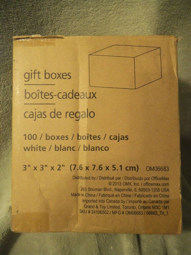 100 White 3x3x2 Gift Boxes Wedding Favor Candy Jewelry 100 Boxes New In Box Ebay