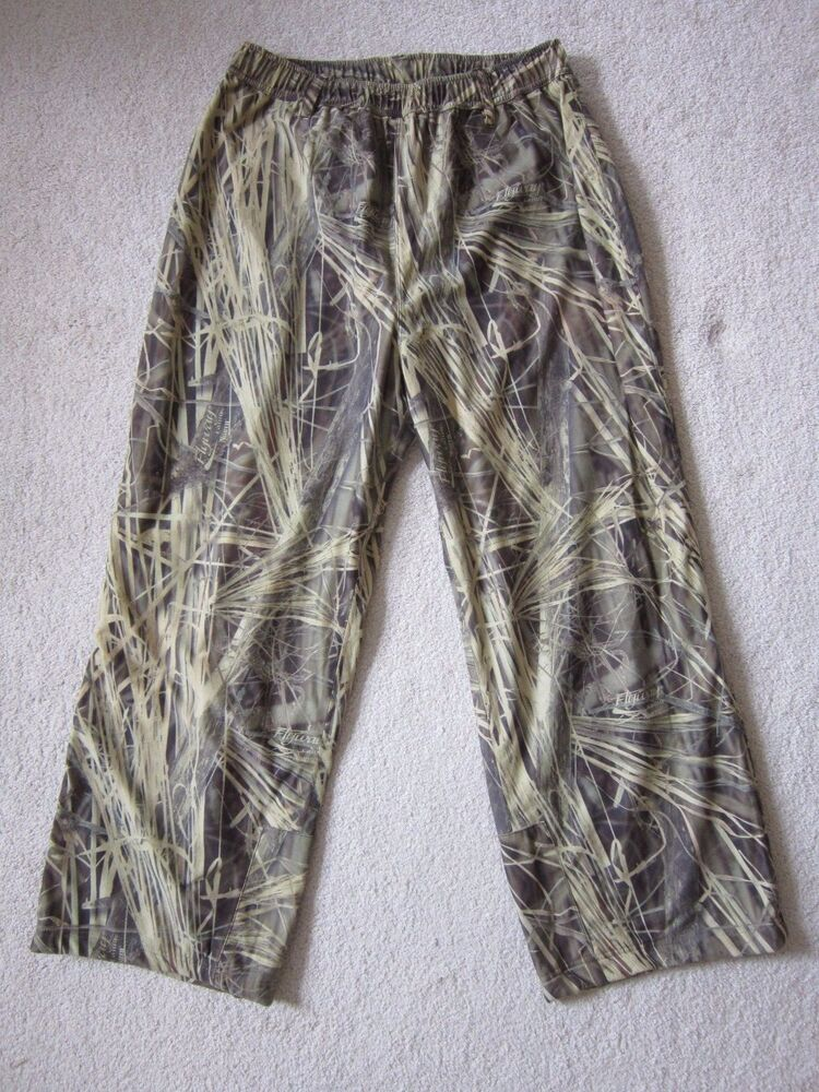 7d09000f08288 NWOT Gamehide Hunting PANTS XXL Hush Hide Flyway Camo Waterfowl Duck Deer  Turkey | eBay
