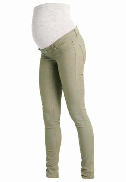 Mamalicious Elly Skinny Maternity Jeans Vetiver Green W28 L32