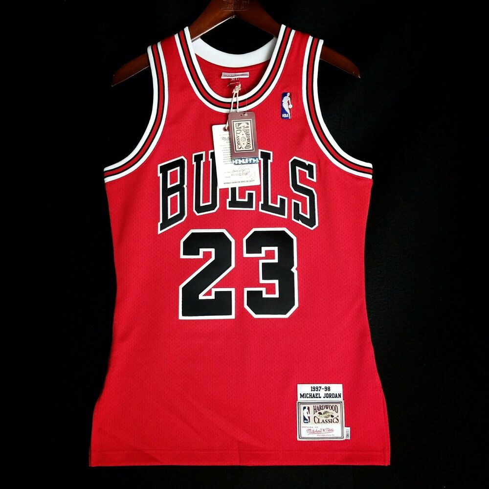 048ef93bb5f Details about 100% Authentic Michael Jordan Mitchell Ness 97 98 Bulls Jersey  Mens Size 36 S