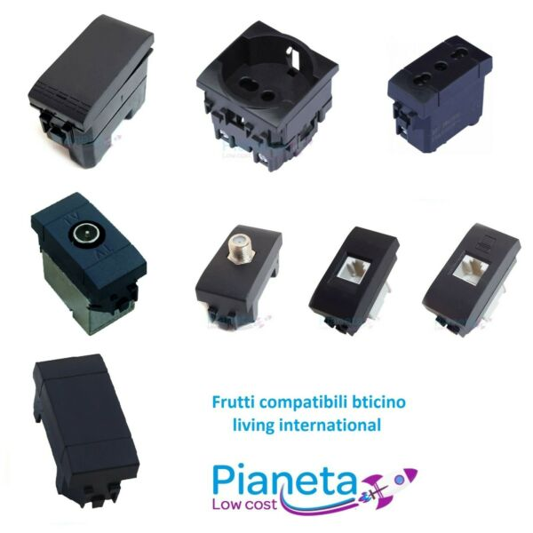 Frutti Compatibili Bticino Living INTERNATIONAL Light Interruttori Prese Pulsant