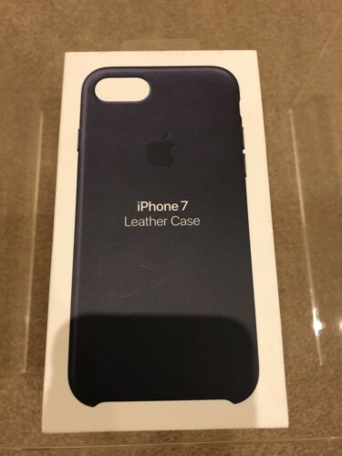 Genuine Apple iPhone 8 / 7  Leather Case - Midnight Blue
