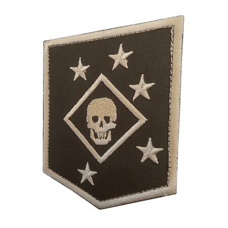 img-USMC raiders marines MARSOC tan arid embroidered badge tag hook&loop patch