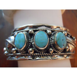 Kyпить Sterling and Turquoise with coral accents Bracelet Cuff на еВаy.соm