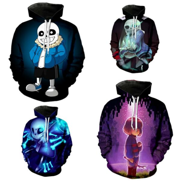 Undertale Sans Frisk Cosplay Hoodie Men Women Casual Sweatshirt Pullover Coat