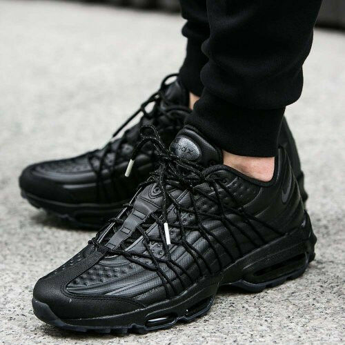 separation shoes 268bd 9804d Details about NIKE AIR MAX 95 ULTRA SE PREMIUM ALL TRIPLE BLACK UK 7.5 EUR  42 US 8.5 TN PLUS
