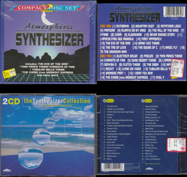 CD Atmospheric Synthesizer (2 cd) + The Synthesizer Collection (2 cd)-(75 songs)