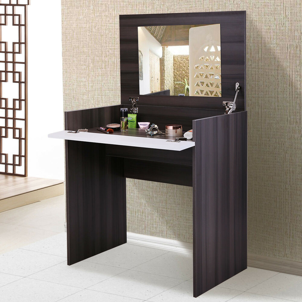 Dressing Table Wflip Up Mirror And Storage Chic Dresser Makeup