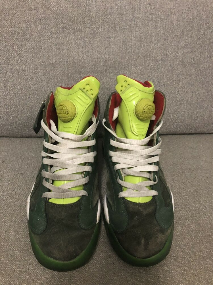 another chance 1dc23 f7ac4 Details about Reebok SHAQ ATTAQ Ghost Christmas Present Rare grinch  kamikaze pump Size 10