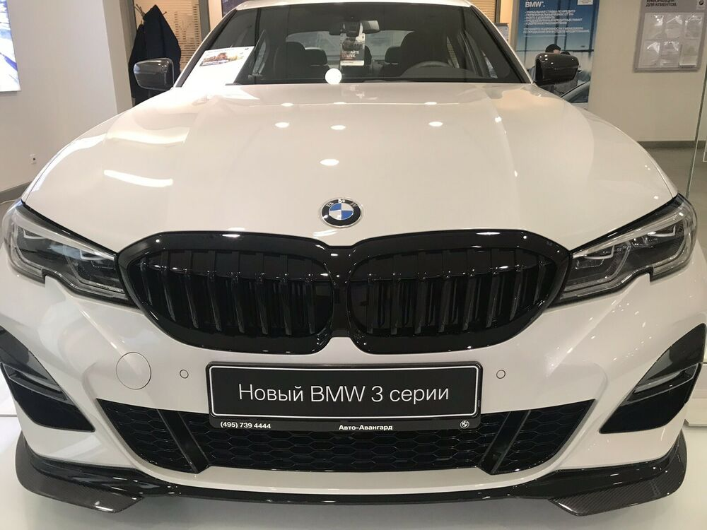 Bmw Brand New Oem 3 Series G20 G21 2019 Quot Shadow Line Gloss Black Front Grille Quot Ebay