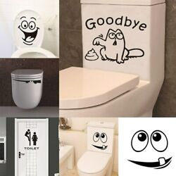 Funny Smile Bathroom Wall Stickers Toilet Home Decoration Waterproof Wall