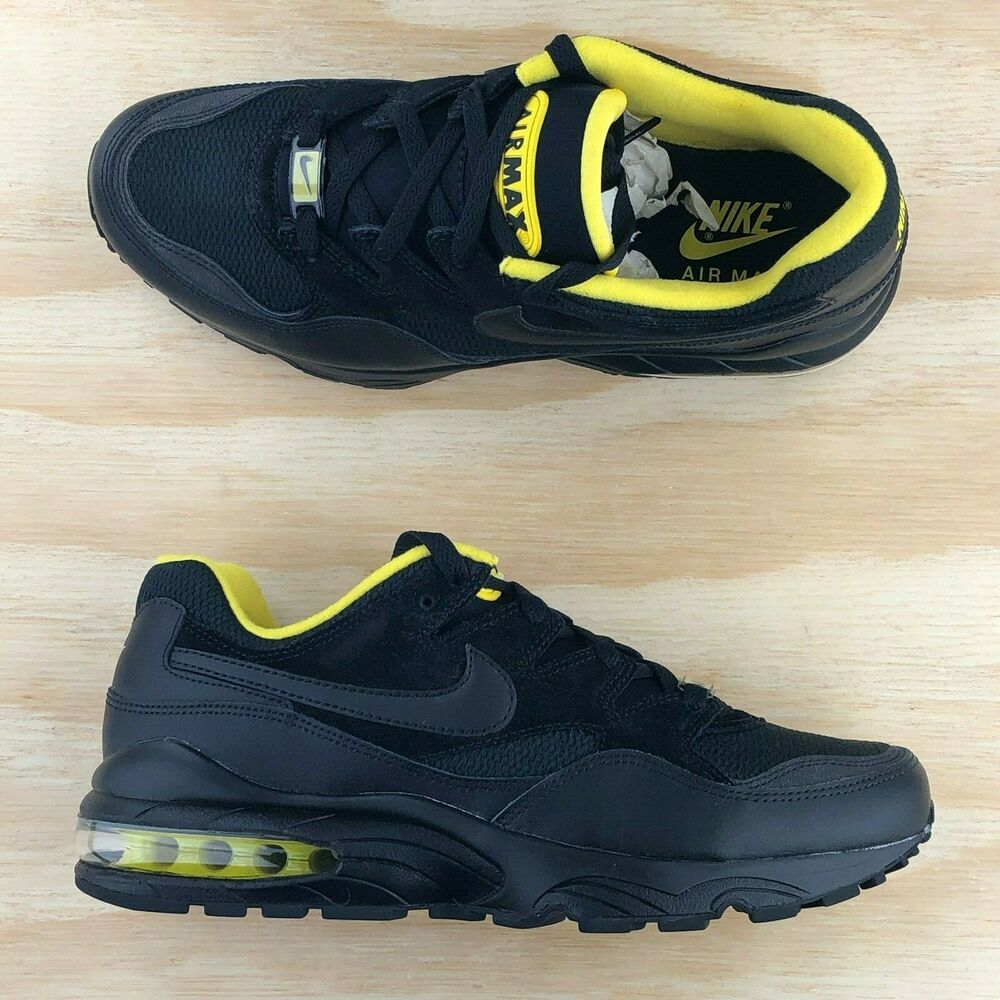 3c8407ef2d Details about Nike Air Max 94 SE Triple Black Tour Yellow Casual Shoes  AV8197-002 Multi Size