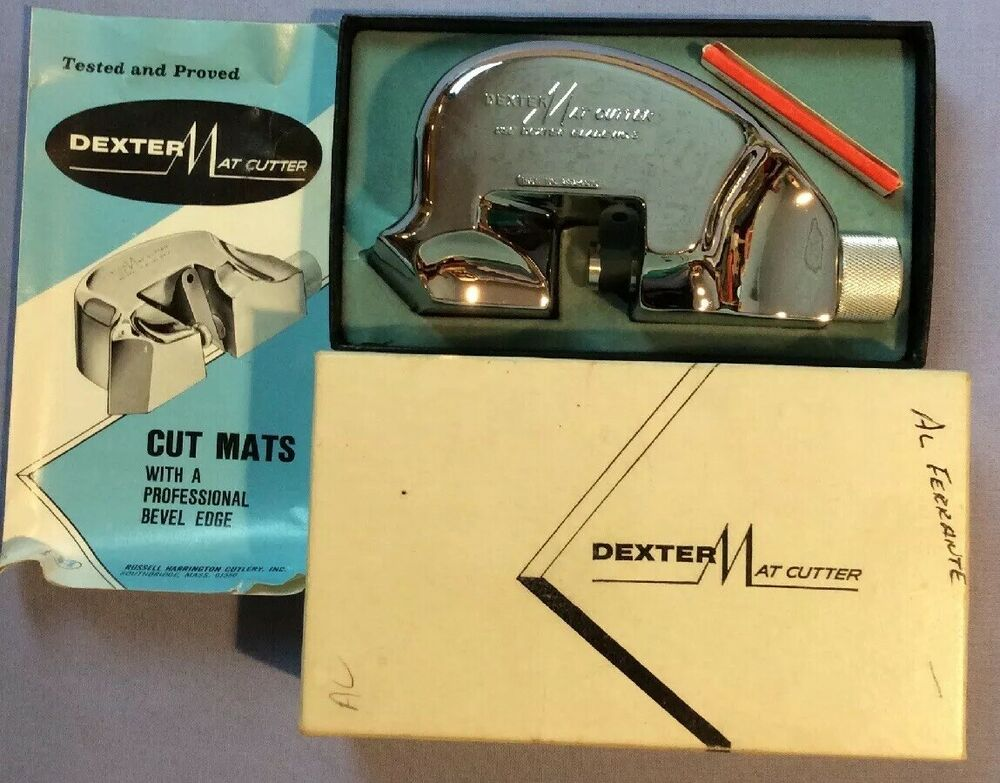 Dexter Mat Cutter Vintage With Box Instructions 3 Blades Excellent Condition Ebay