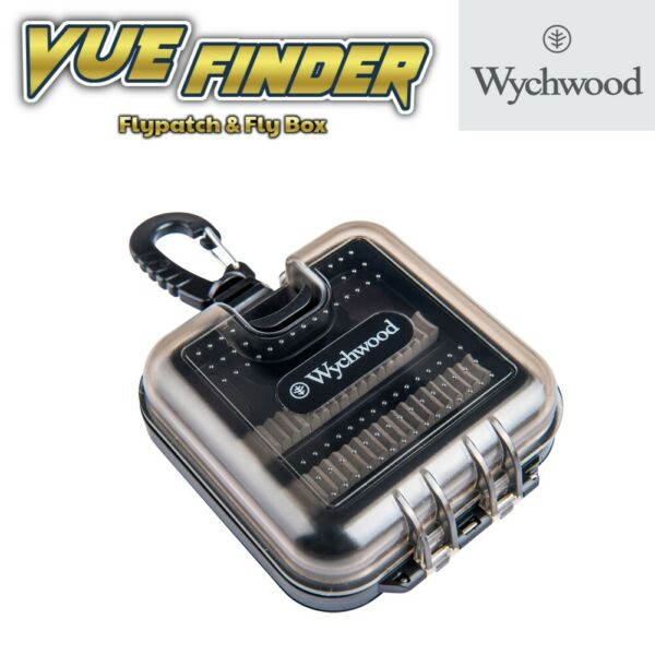 6.5x4 ins 2019 Stock Wychwood Vuefinder Large Fly Box Double RIPPLE FOAM J8018