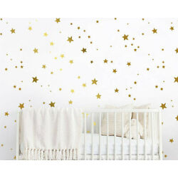 150 Star Wall Decals - Gold Star Decals, Nursery Wall Decals, Star Wall Stickers