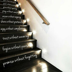 10 ways to LOVE Wall Decal, Home Decor, Stairs Decals, Steps Sticker, Decor r312