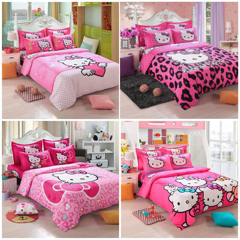 New Hello Kitty Bedding Sets 4pc kids duvet cover bed ...