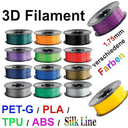 Kyпить 3D Drucker Filament 1kg Rolle PLA TPU ABS PETG PLA+ 1,75mm Printer Spule ⚫️???????? на еВаy.соm