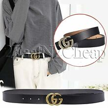 bbedf05e1c263d Women G-Style Gold Buckle Leather Slim Belts Gucci Logo Pattern For  Jeans-3.8