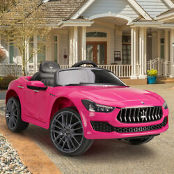 Kyпить 12V Kids Ride On Car Maserati Ghibli Electric Toy Girls Birthday Gift Pink w/ RC на еВаy.соm