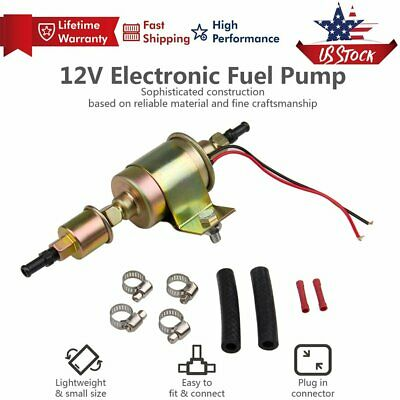 12V 5-9PSI Electric Fuel Pump Diesel Gasoline Inline Carburator Transfer 30GPH