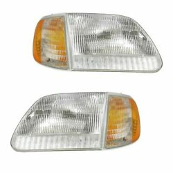 Kyпить FIT FOR 1999 - 2003 FORD F-150 HEADLIGHTS & CORNER LIGHTS PAIR RIGHT AND LEFT на еВаy.соm