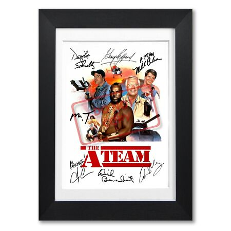 img-THE A TEAM CAST SIGNED POSTER PRINT TV SHOW SEASON PHOTO AUTOGRAPH GIFT MR T.