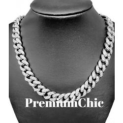 Kyпить Miami Cuban Choker Link Chain Silver Plated Mens Hip Hop Necklace Jewelry ICED  на еВаy.соm