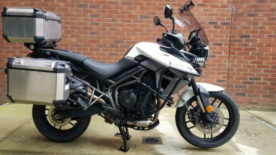Triumph Tiger 800 XRT, 2017 model with luggage