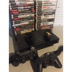 Kyпить Sony PlayStation 2 PS2 Fat Console System Complete Bundle 2 Controllers 2 Games на еВаy.соm