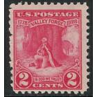 Scott 645- MH- Valley Forge, Washington at Prayer- 2c 1928- unused mint stamp