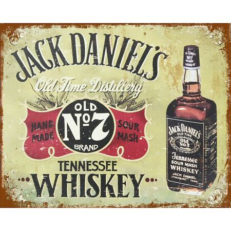 img-JACK DANIELS TENNESSEE SOUR MASH WHISKEY MAN CAVE BAR METAL PLAQUE TIN SIGN 435