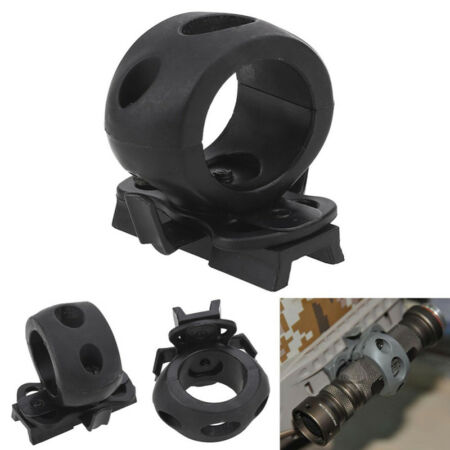 img-Tactical Helmet Flashlight Mount Clip Military Airsoft Light Clamp Adaptor N7