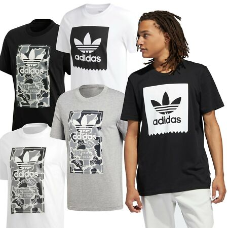 img-Adidas Original Caamo & Solid Men's Trefoil Sports T-Shirts FREE UK SHIPPING