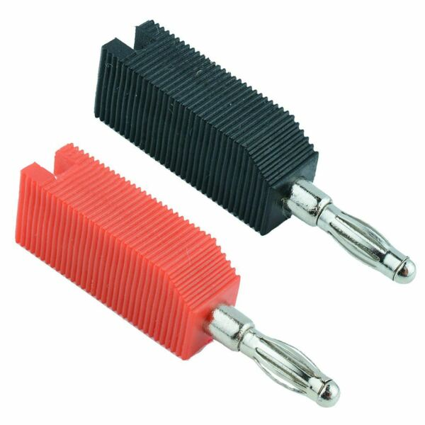 Pair Red Black Stackable 4mm Banana Test Plug Connector