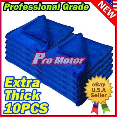 Microfiber Cleaning Cloth Set 100 Towel Rag Car Polishing No Scratch Detailing