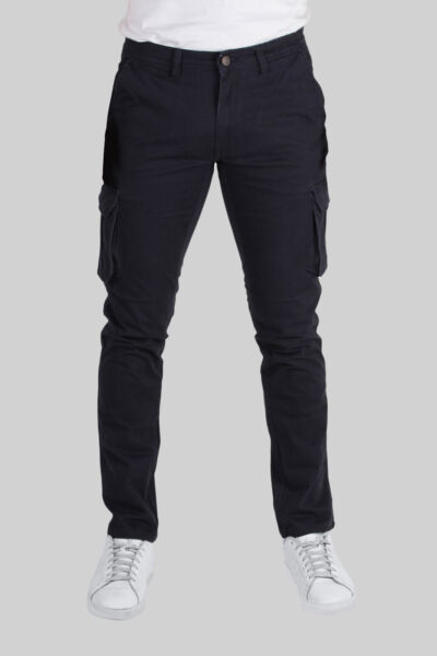 Coveri Collection Pantalone uomo cargo blu Slim fit